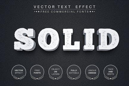 Piedra 3D - efecto de texto editable, estilo de fuente