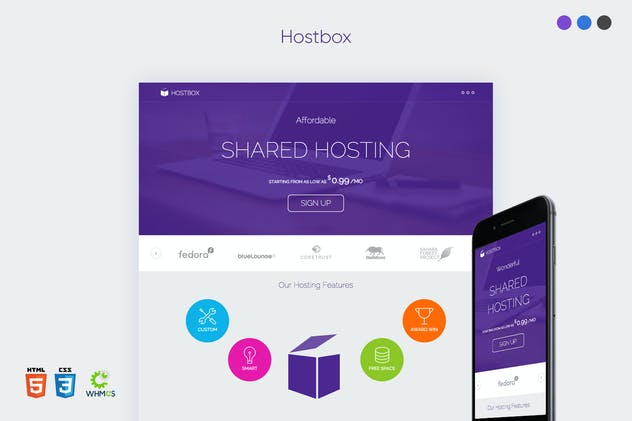 Hostbox WHMCS & HTML5 Landing Page