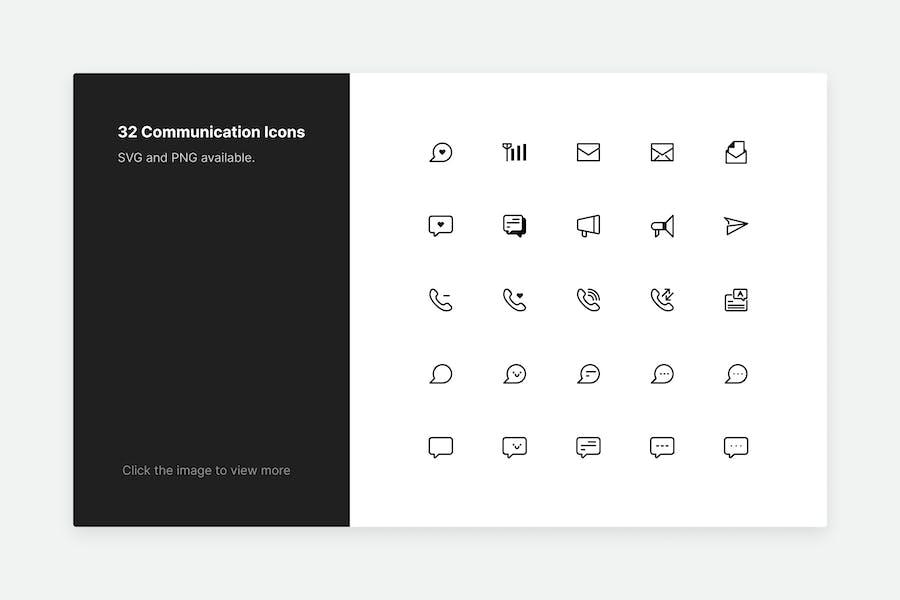 Communication Icons - Line style