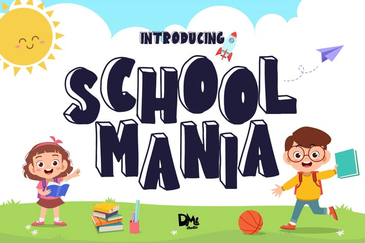 School Mania - Bloque Crafty Font