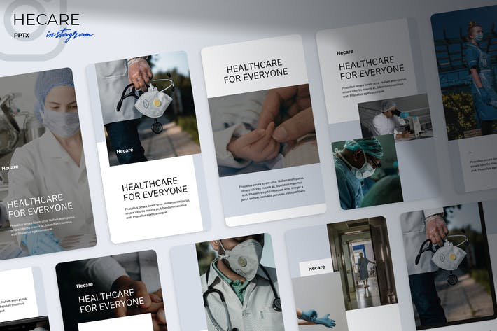 Cover Image For Hecare - Medical Instagram Powerpoint