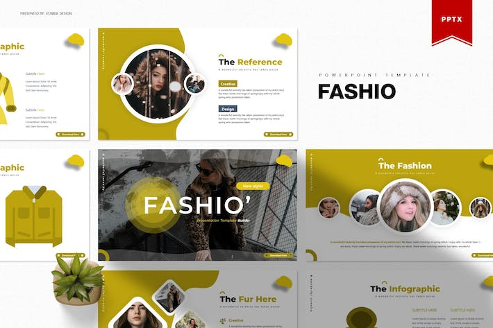 Thumbnail for Fashio | Powerpoint Template