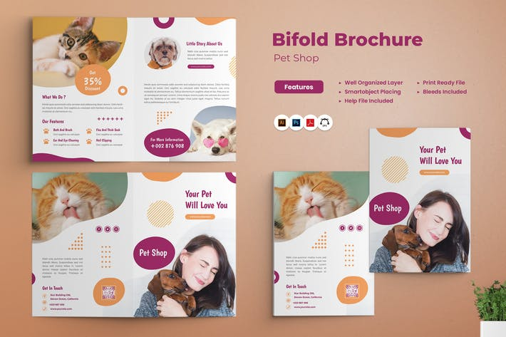 Pet Shop Bifold Brochure