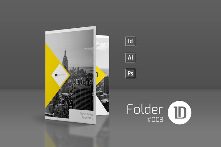 Thumbnail for Presentation Folder Template 003
