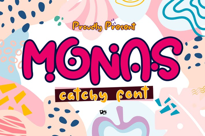 Thumbnail for Monas - Catchy Font