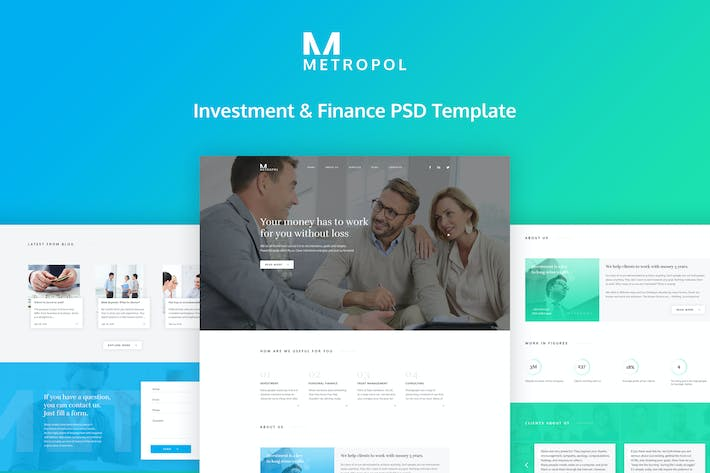 Thumbnail for Metropol - Investment & Finance PSD Template