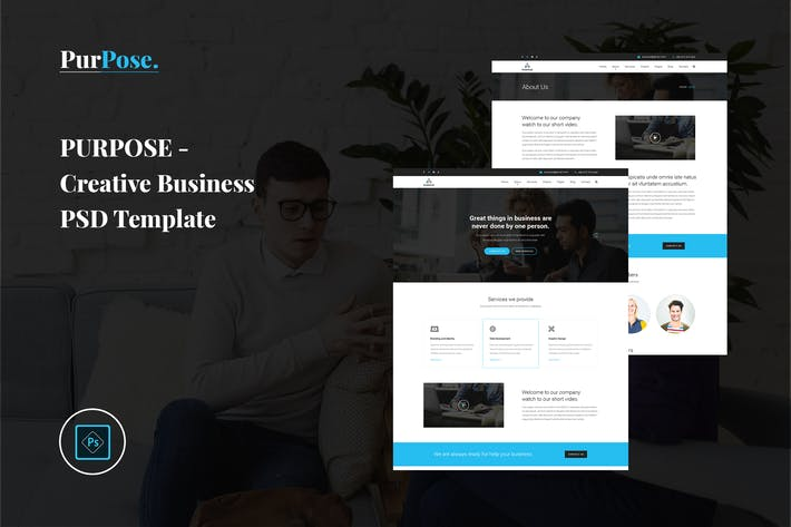 Thumbnail for Purpose - Creative Business PSD Template
