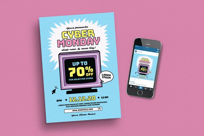 Thumbnail for Cyber Monday Event Flyer + Instagram Post