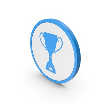 Icon Trophy Cup Blue