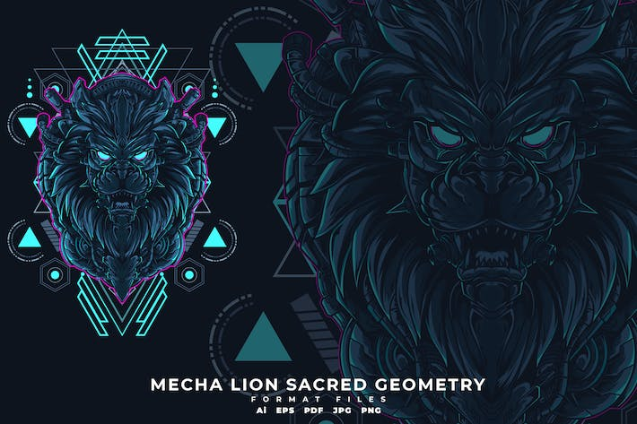 Thumbnail for MECHA LION SACRED GEOMETRY
