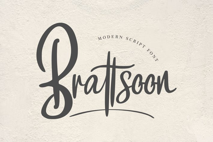 Thumbnail for Brattsoon | Modern Script Font