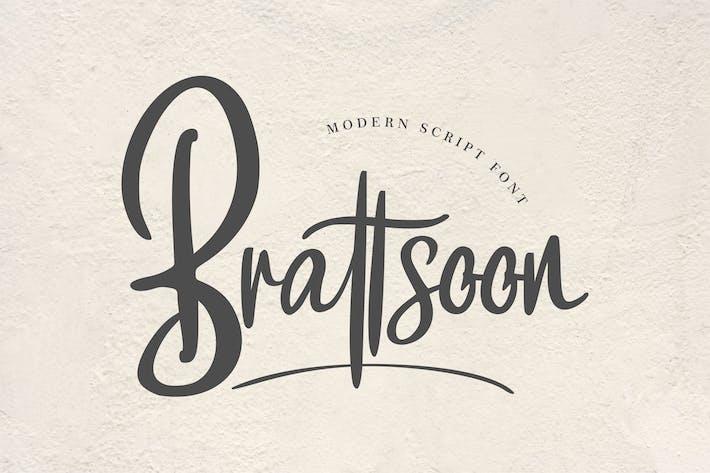 Brattsoon | Modern Script Font
