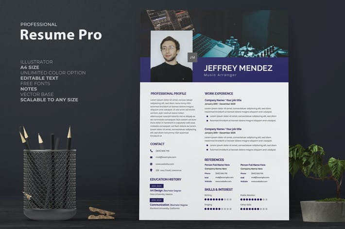 Thumbnail for Musician Resume Pro