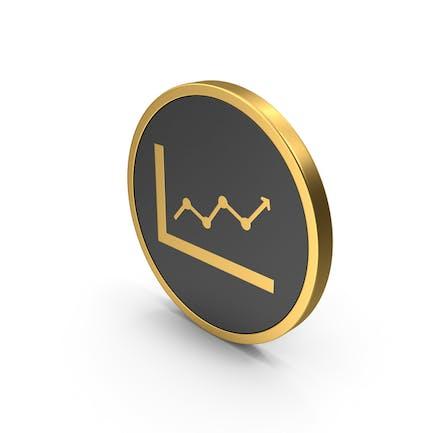 Gold-Symbol Graph nach oben