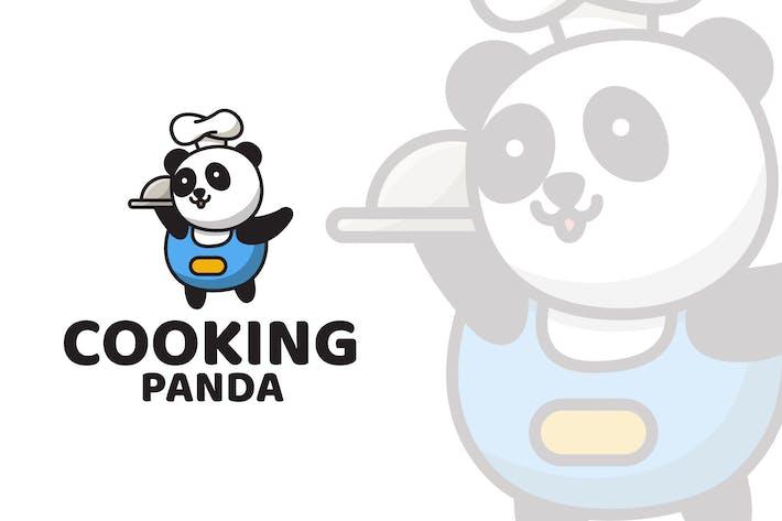 Thumbnail for Cooking Panda Cute Logo Template