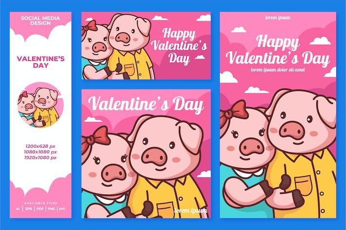 Valentine Social Media Design