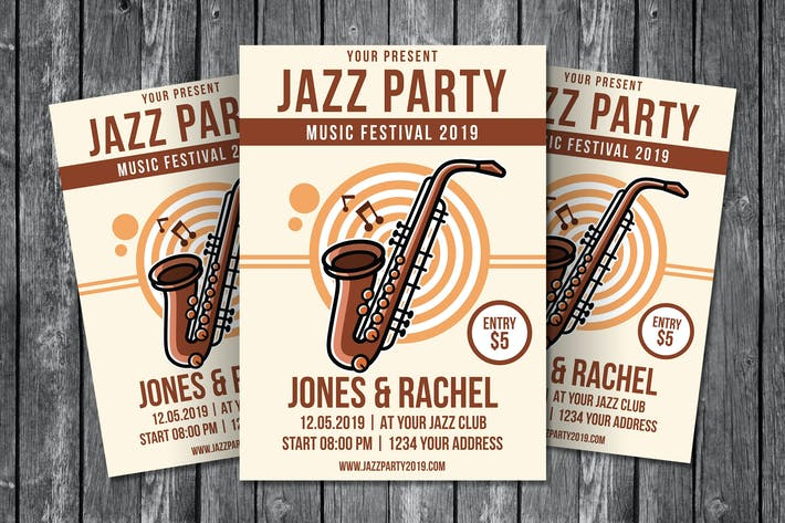 Thumbnail for Jazz Party Flyer Template