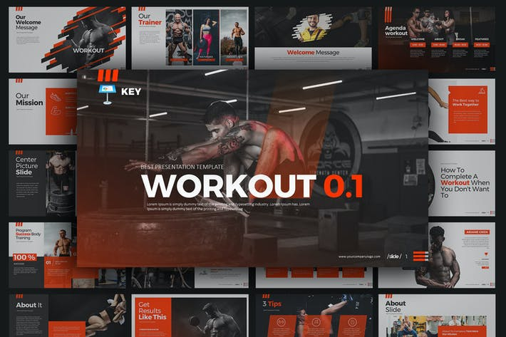 Thumbnail for WORKOUT 0.1 Keynote Templates