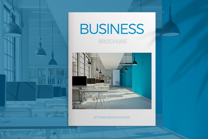 Cover Image For Blue Business Brochure
