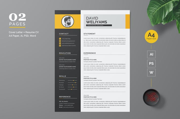 Thumbnail for Professional and Modern CV / Resume Template