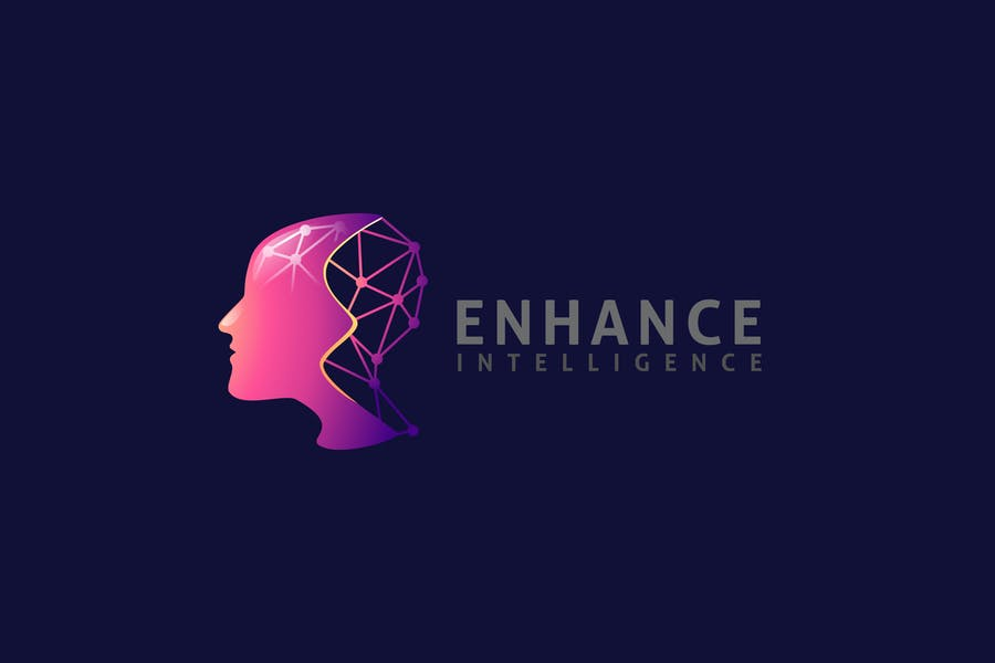 Human Brain and Artificial Intelligence Logo