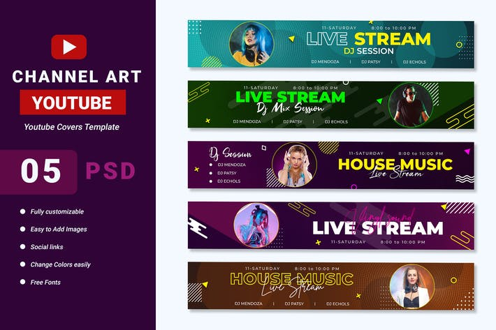 Thumbnail for Youtube Channel Art Banner Template
