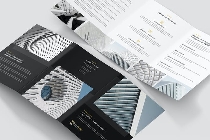 Thumbnail for Brochure – Architect Tri-Fold A5