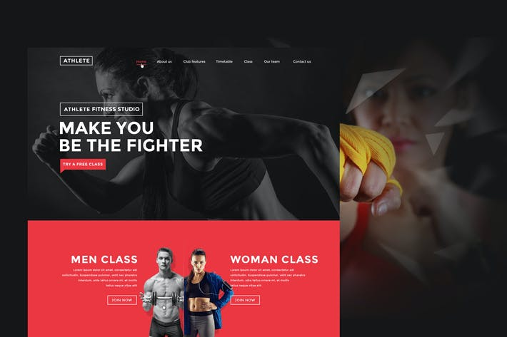 Thumbnail for Fitness, Gym and Sport HTML template |Athlete