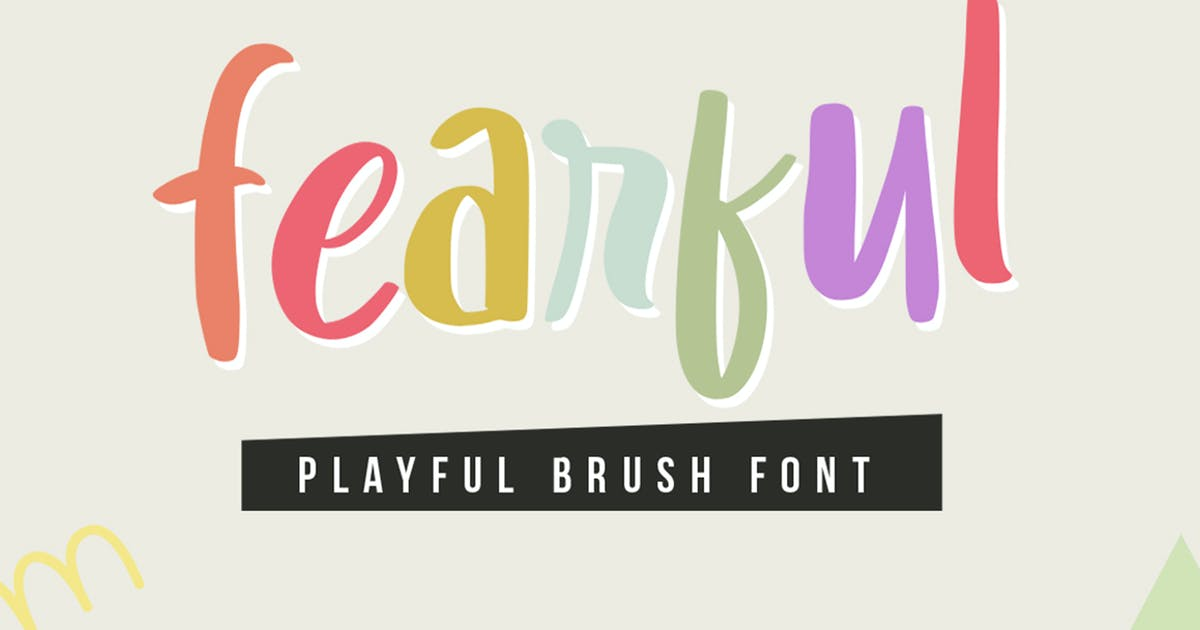 Download Fearful - Playful Typeface by garisman