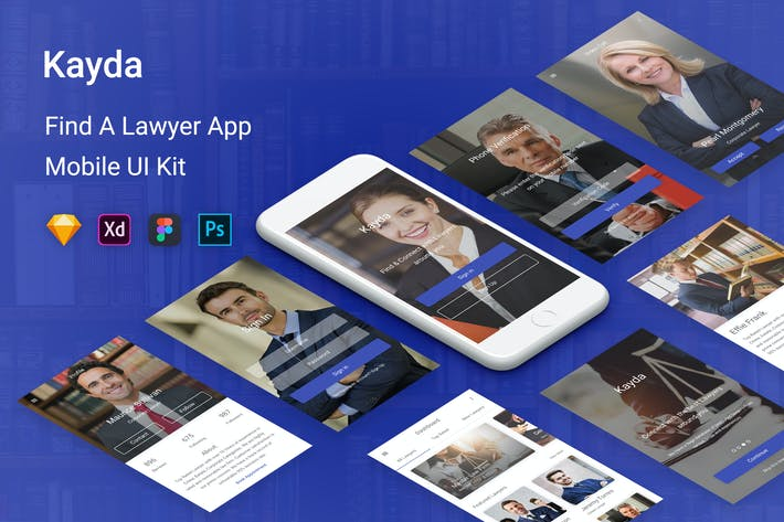 Thumbnail for Kayda - Find A Lawyer UI Kit