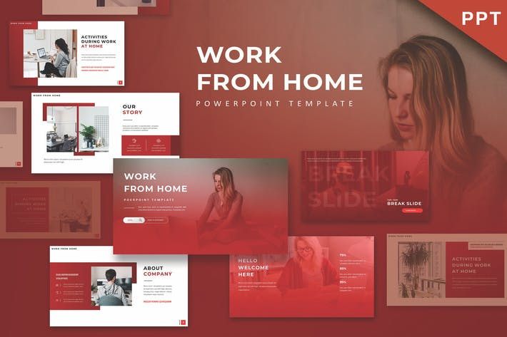 Thumbnail for WFH - Powerpoint Template