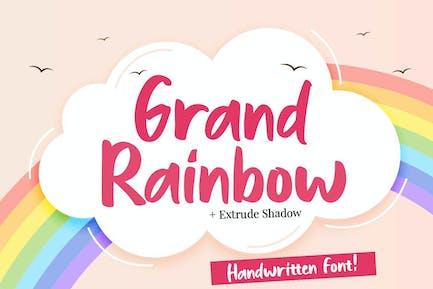 Grand Rainbow + Extrude Shadow Script