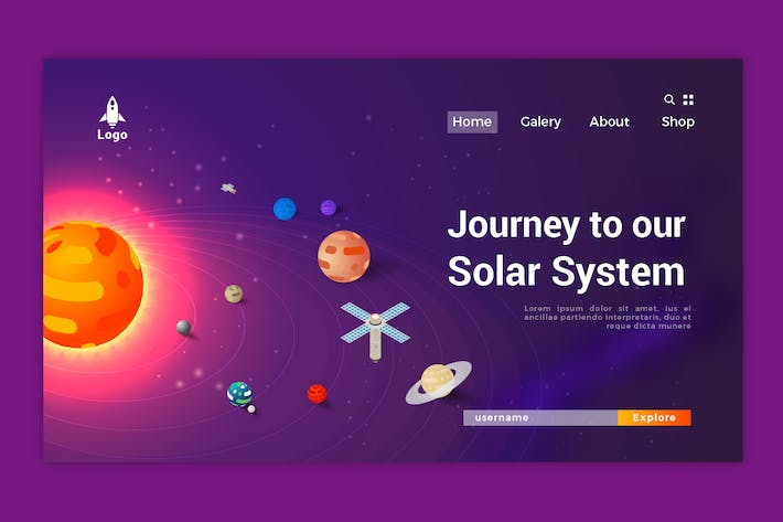 Thumbnail for Solar System Isometric Landing Page Vol. 01