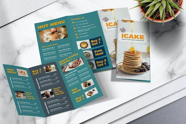 Thumbnail for Food Menu Trifold Brochure Vol.05