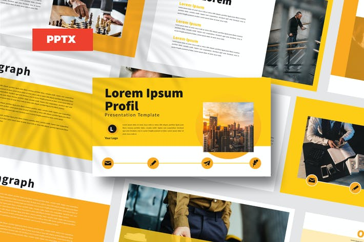Thumbnail for Yellow Bussiness - Powerpoint Template