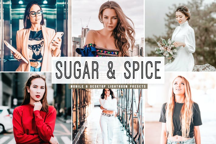 Thumbnail for Sugar & Spice Mobile & Desktop Lightroom Presets