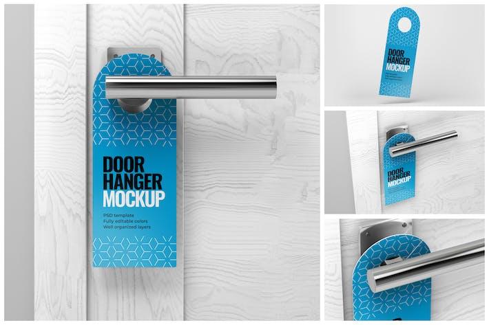 Thumbnail for Door Hanger Mockup Set