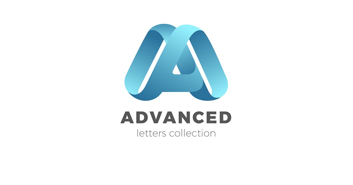 Download Letter A Logo design 3D Ribbon style by Sentavio