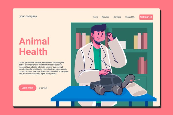 Thumbnail for Animal Hospital - Landing Page