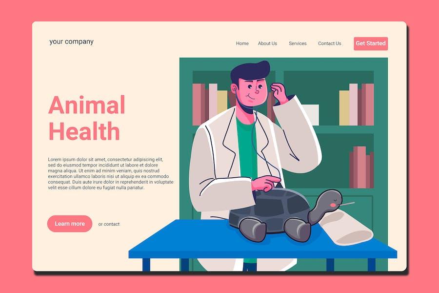 Animal Hospital - Landing Page