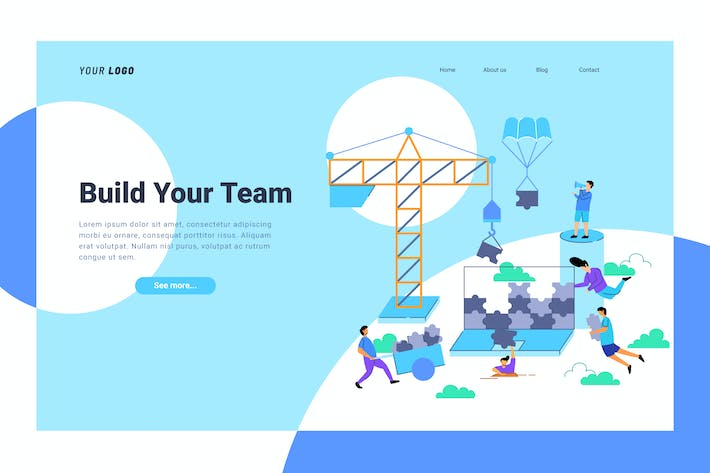 Thumbnail for Team Building - Landing Page