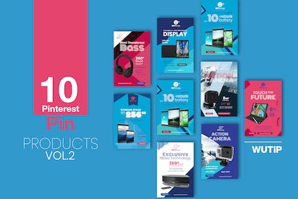 10 Pinterest Pin Banner-Products Vol2