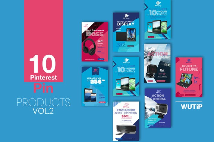 Thumbnail for 10 Pinterest Pin Banner-Products Vol2