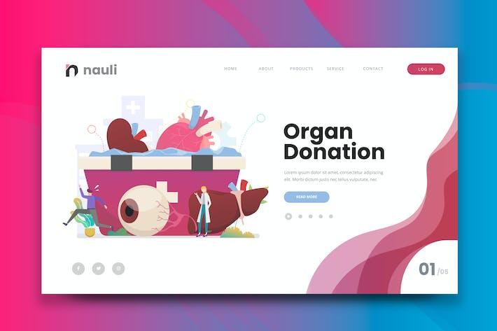 Thumbnail for Human Organ Donation Web PSD and AI Vector