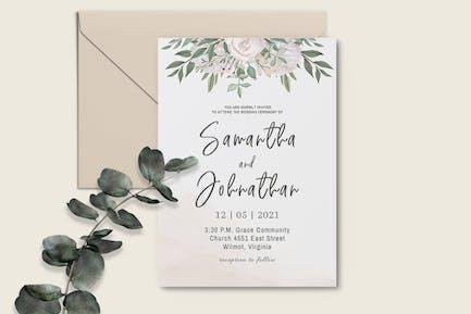 Boho Wedding Invitation Template
