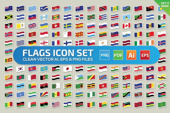 Thumbnail for Flags icon set