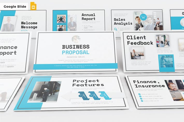 Thumbnail for Geschäftsvorschlag - Google Slide V300