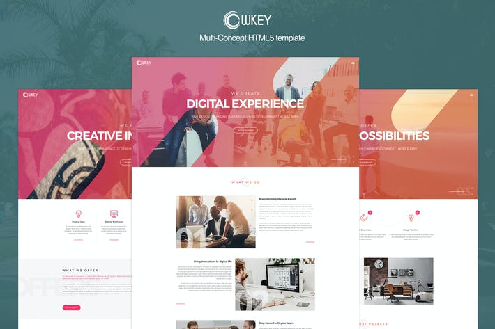 Thumbnail for Owkey - Multi-Concept HTML5 template