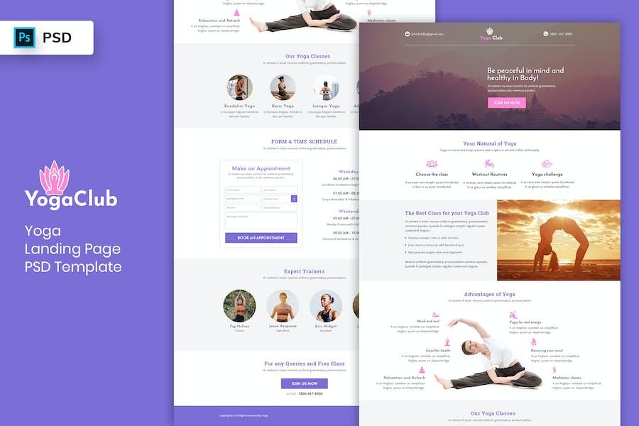 Yoga - Landing Page PSD Template