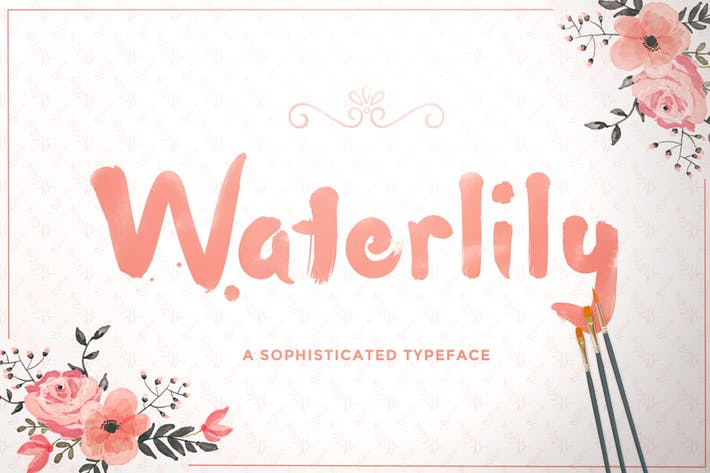 Thumbnail for Waterlily Font